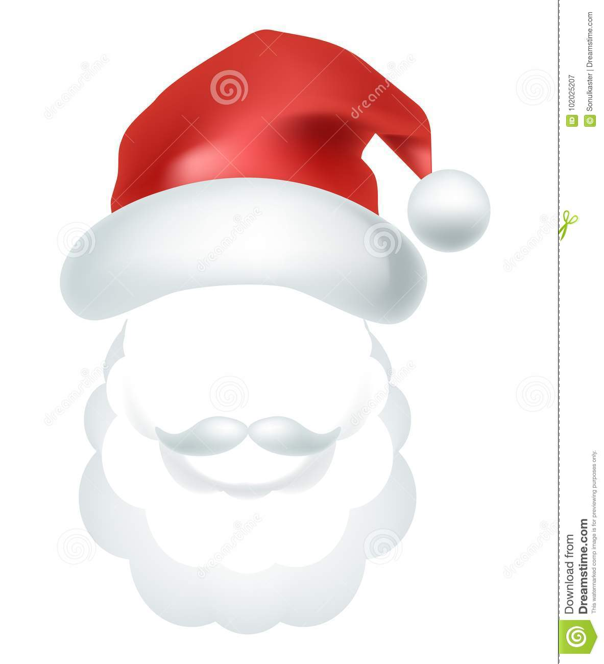 Video Chat Santa Claus Face Selfie Effect Photo Mask Vector Icon
