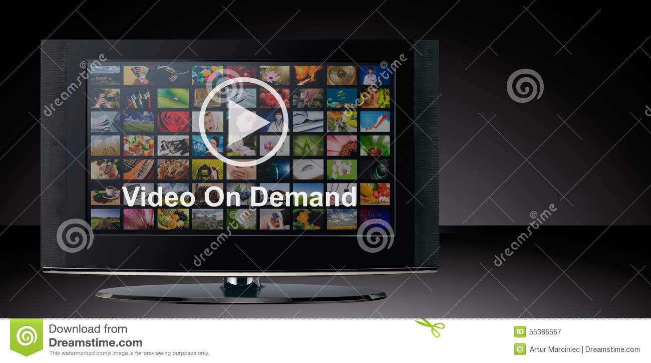 Video on demand vod service on tv stock photo image for Tv on demand