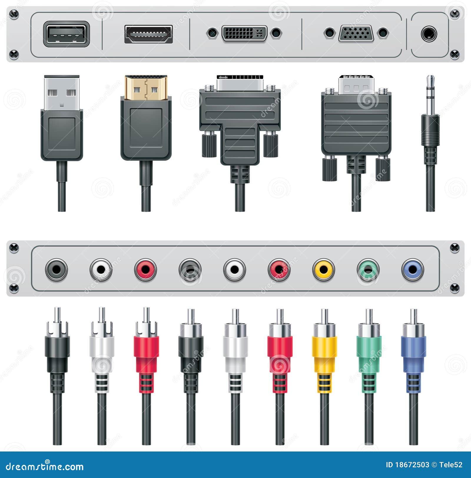 Video ed audio connettori di vettore