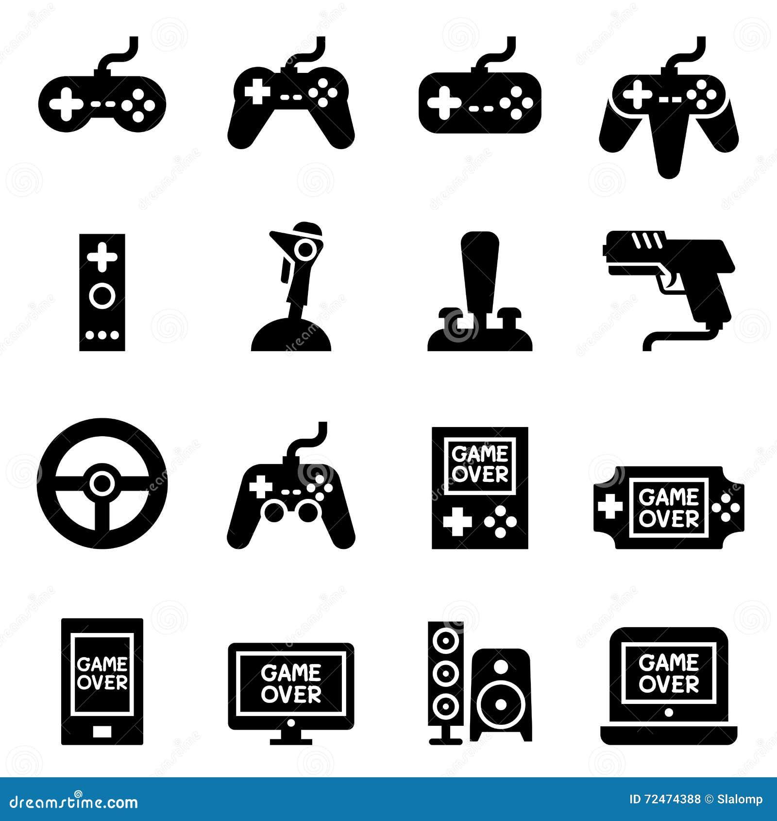 Video Game Controller Joystick Gamepad Icon Stock Illustration