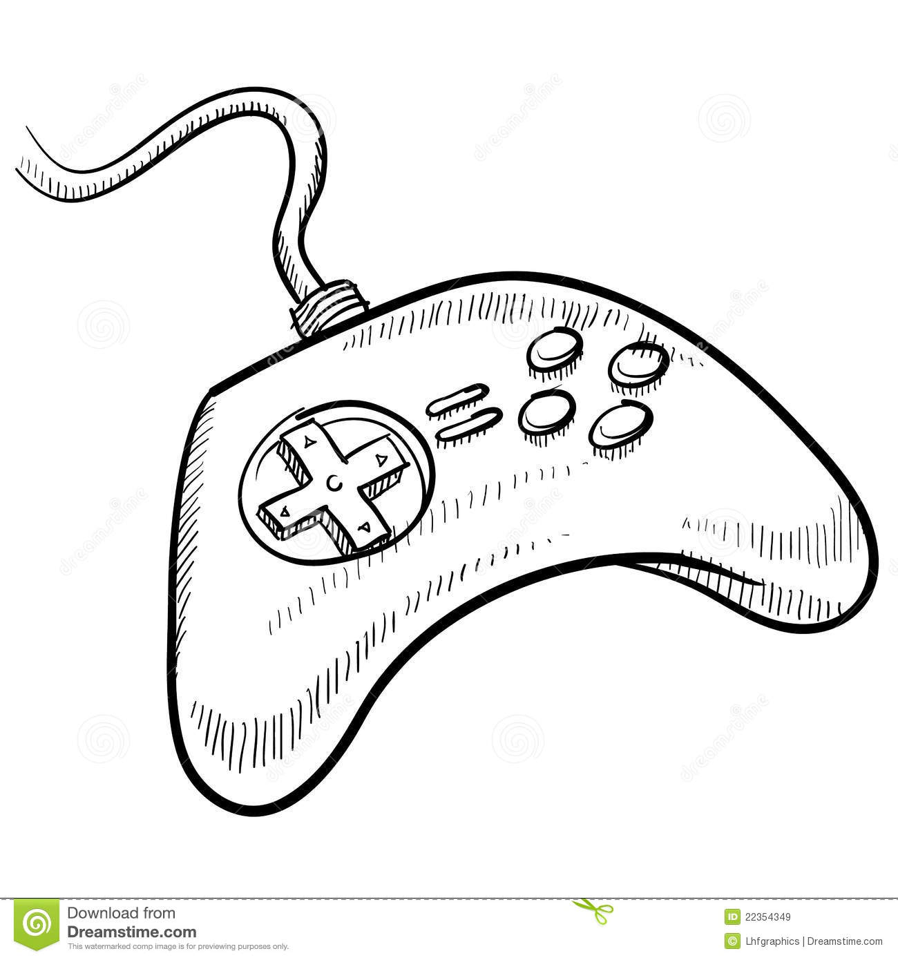 Coloring page xbox - Royalty Free Stock Photo