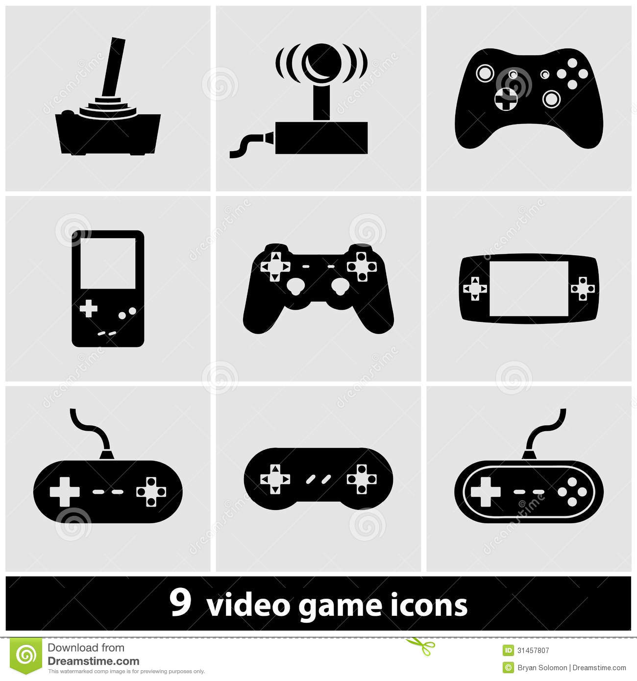 video game icon set royalty free stock photography image