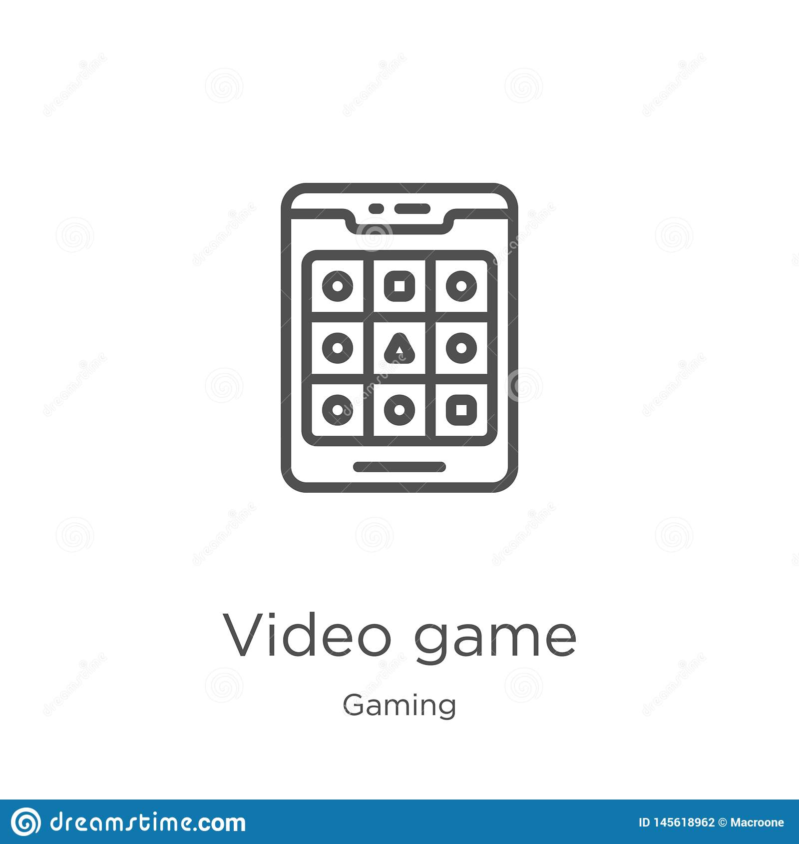 Video Game Icon Vector From Gaming Collection  Thin Line