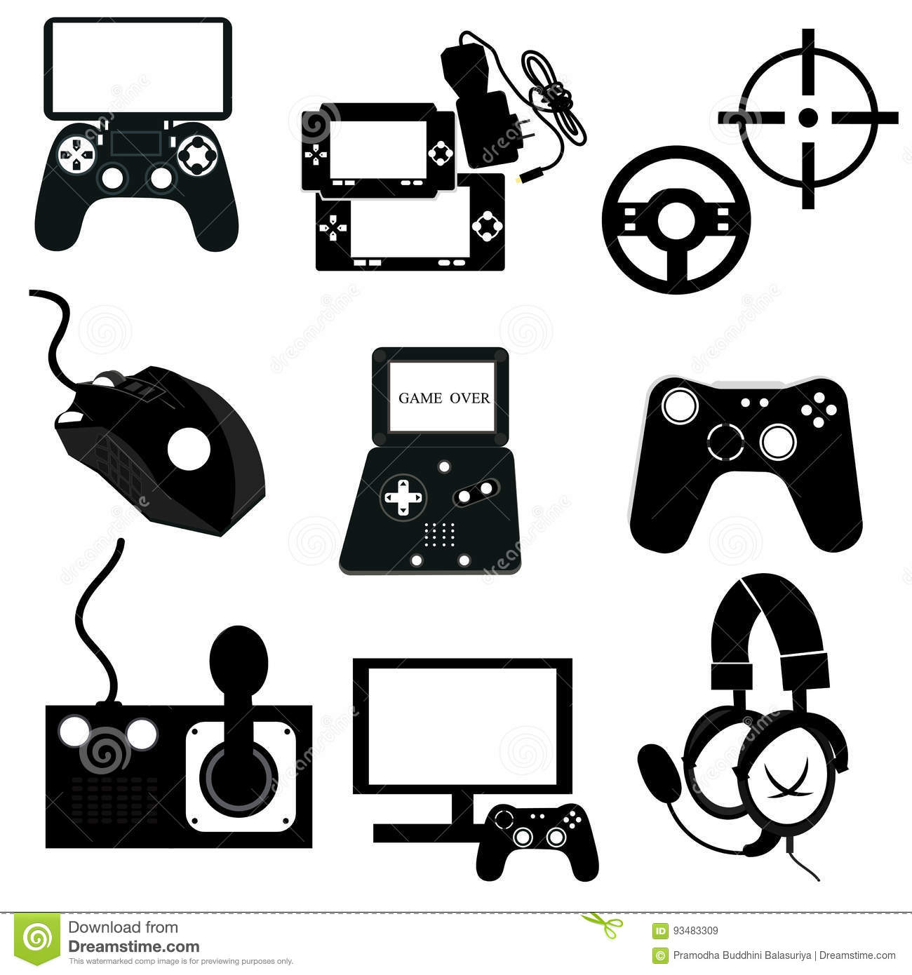 Video Game Linear Icon Set Vector Stock Vector - Illustration of ... 9a814f2a4e1d