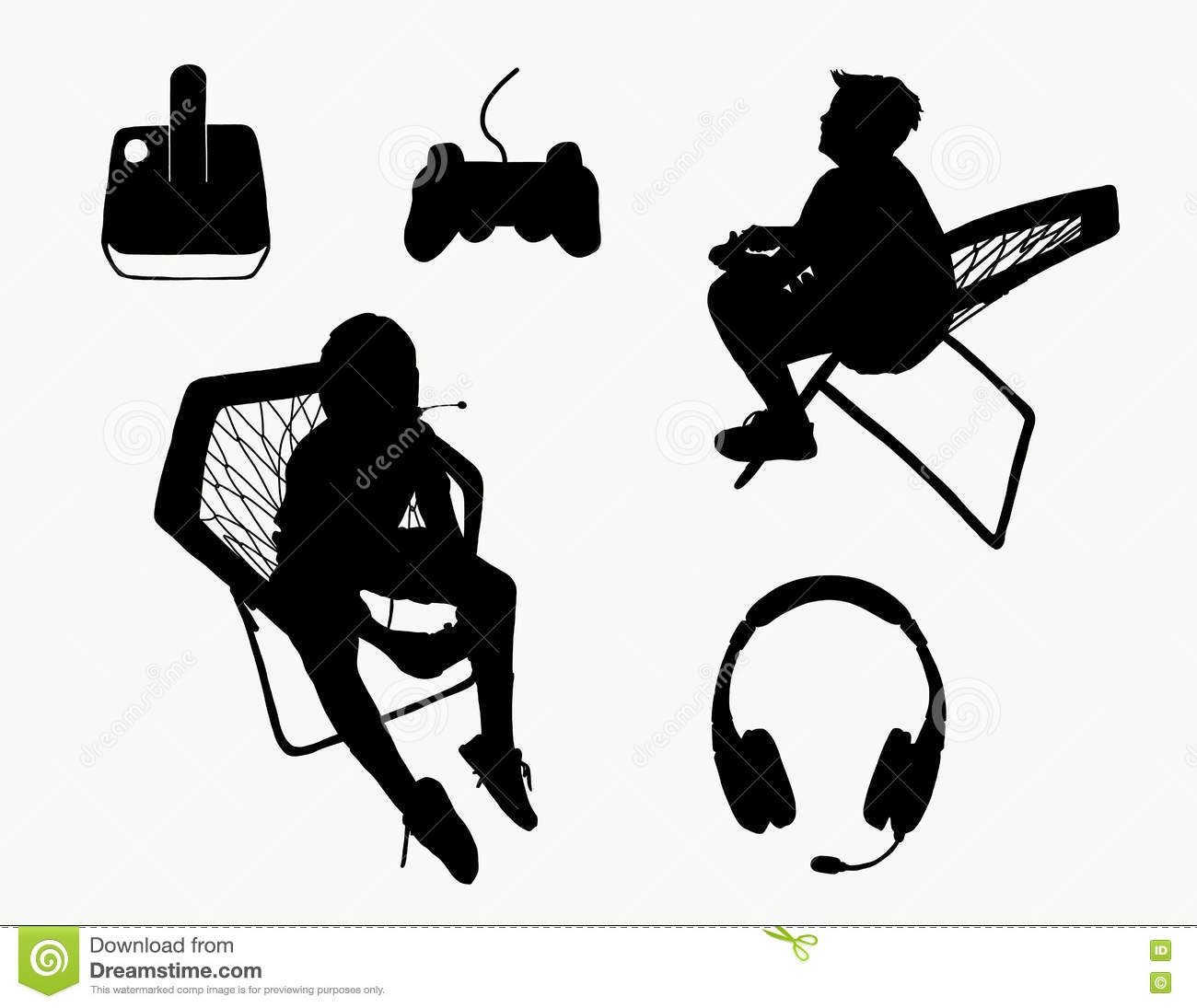 Video Game Silhouettes Stock Vector Illustration Of Nintendo 80766869