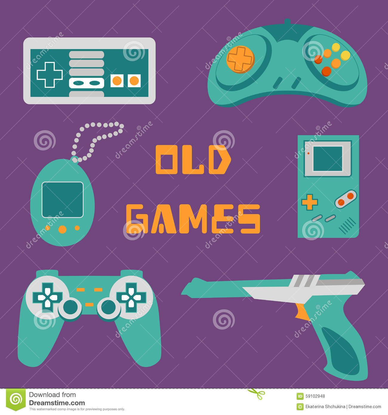 Video Games Icons Stock Vector - Image: 59102948