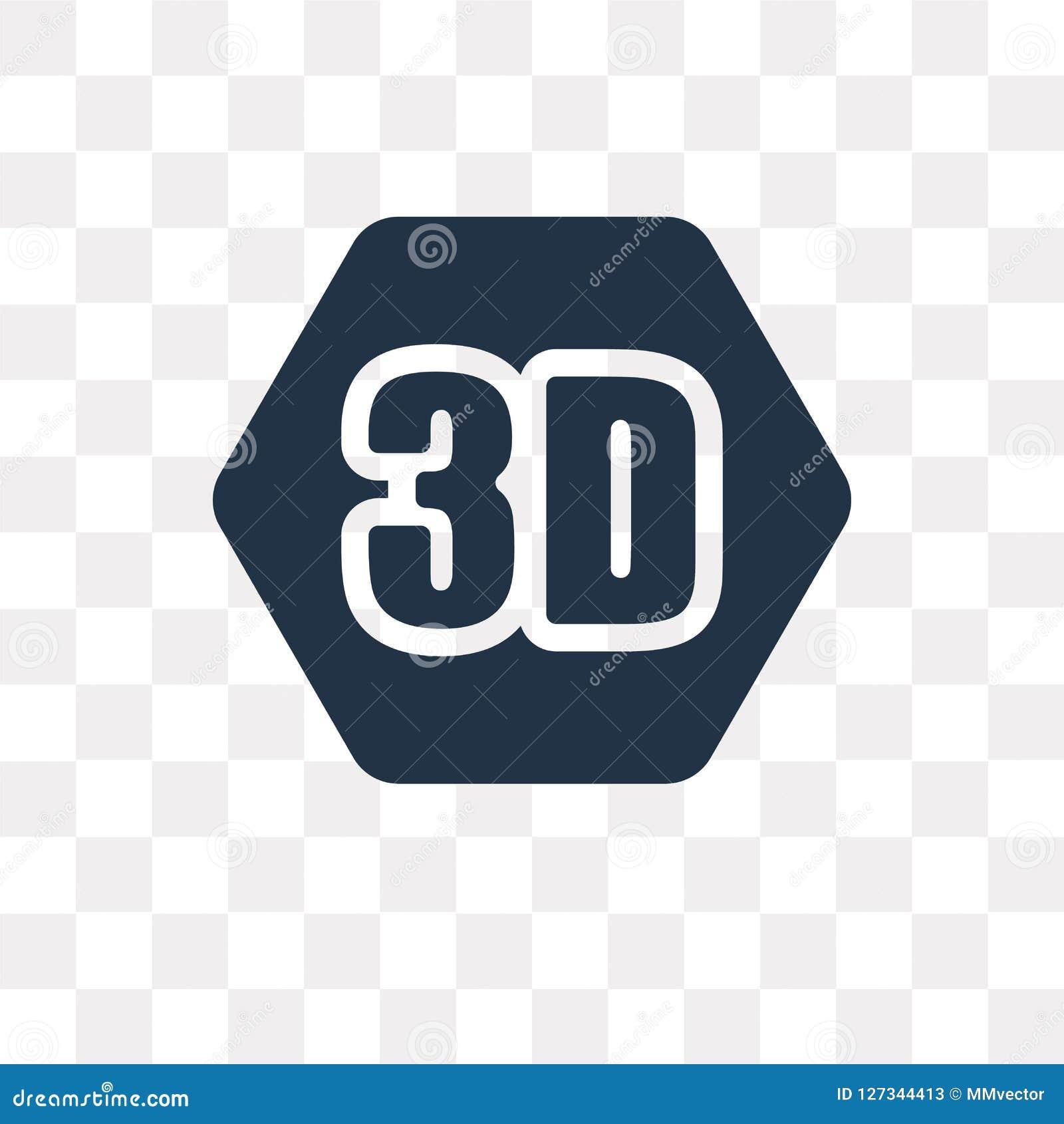 Video icona di vettore 3D isolata su fondo trasparente, 3D Vide