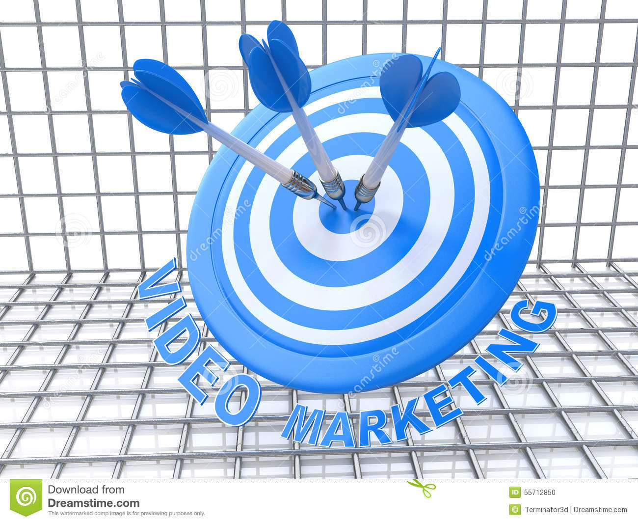 Video Marketing: arrows hitting the center of target