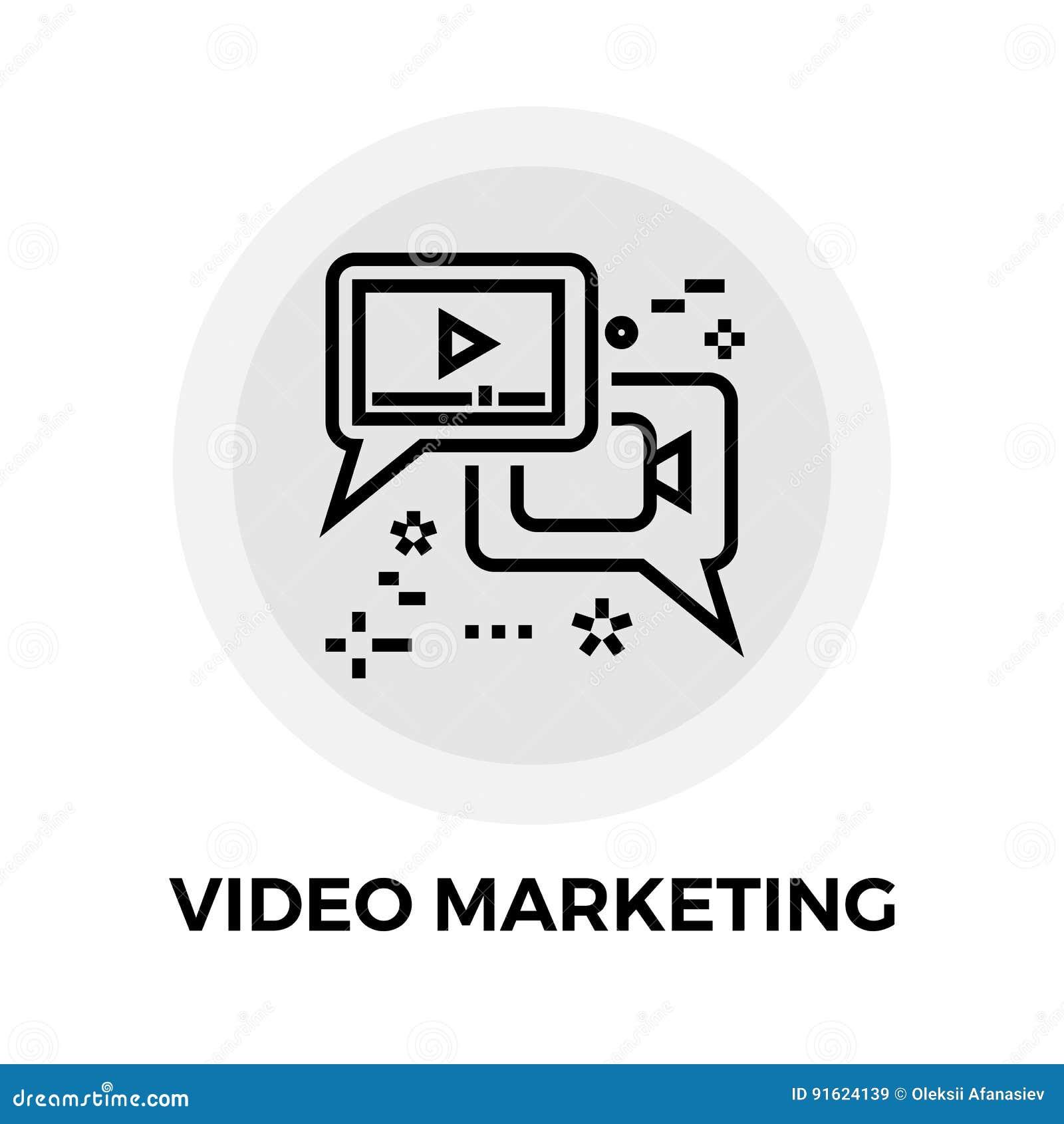 Video Marketing Lijnpictogram
