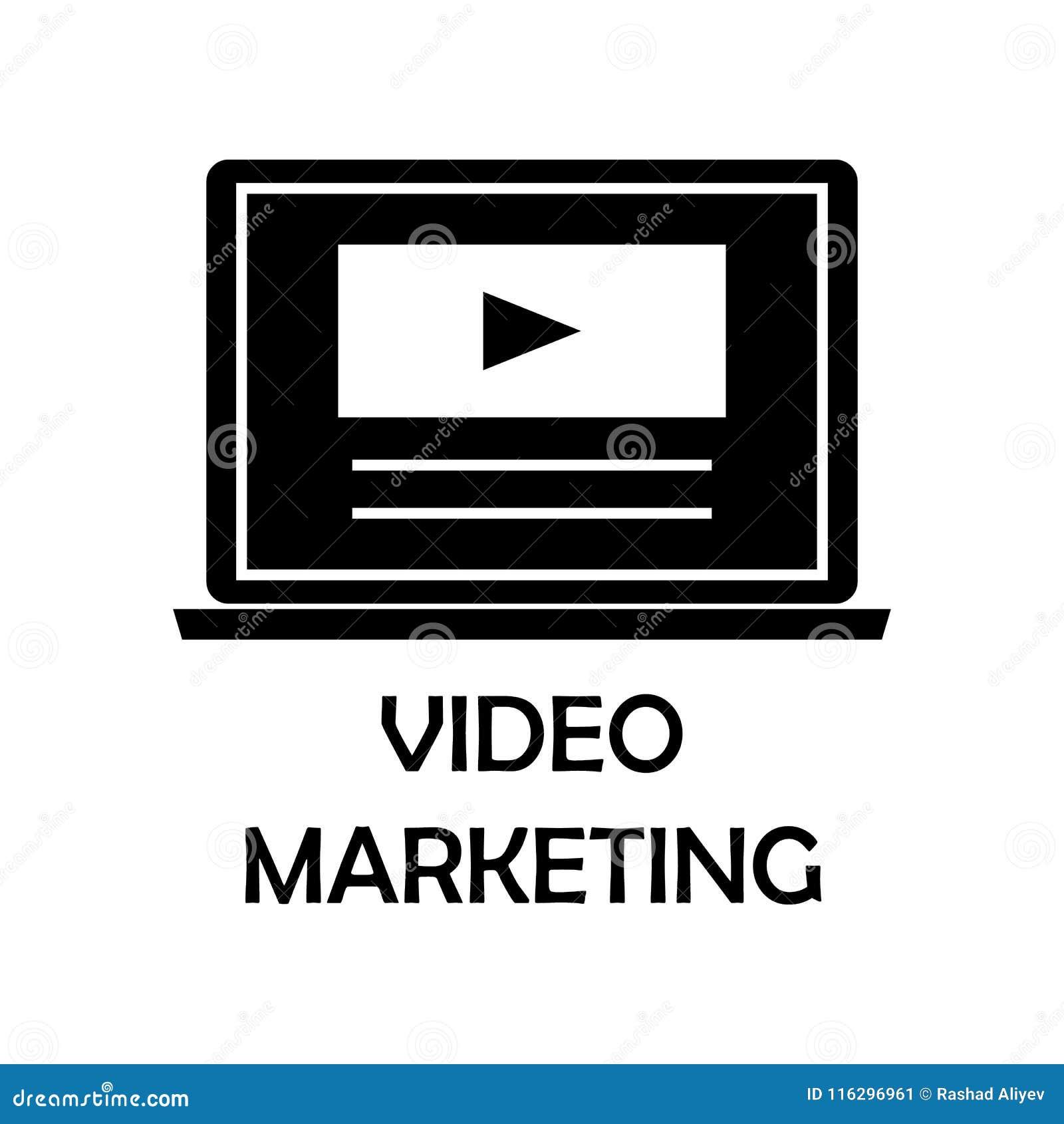 Video marketing pictogram Element van marketing voor mobiel concept en Web apps Het gedetailleerde video marketing pictogram kan