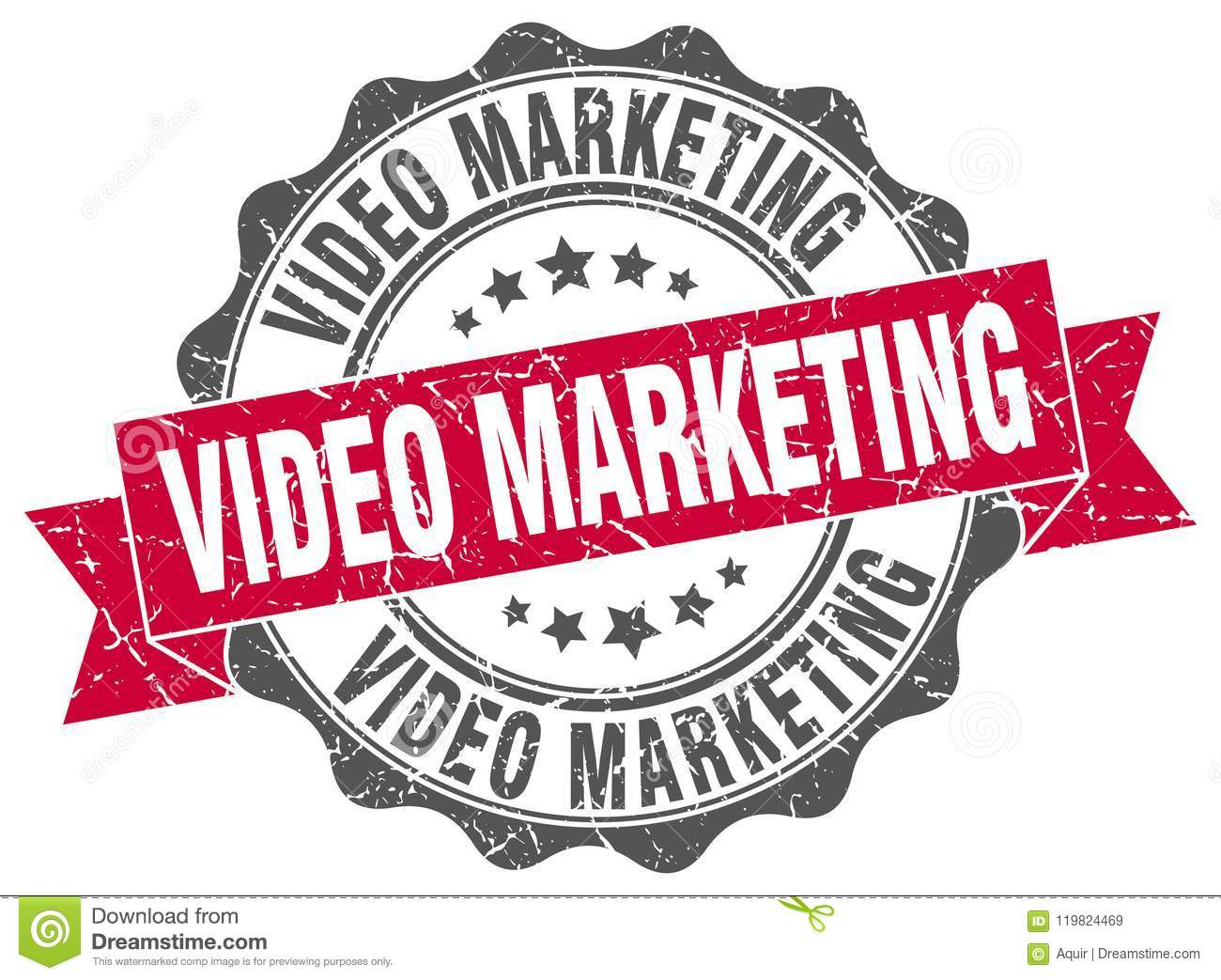 video marketing seal. stamp