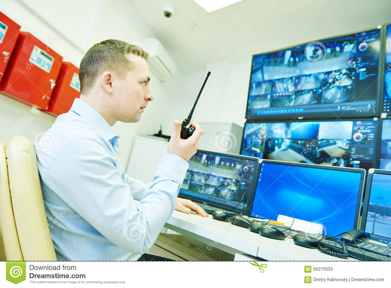 Video Monitoring Surveillance Security System Stock Image