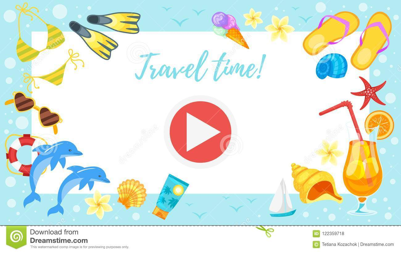Video And Photo Frame Background Stock Vector - Illustration of ...
