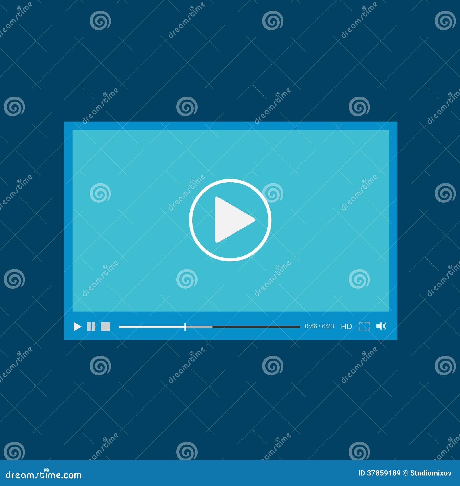 Modern Flat Video Player Interface Cartoon Vector ...