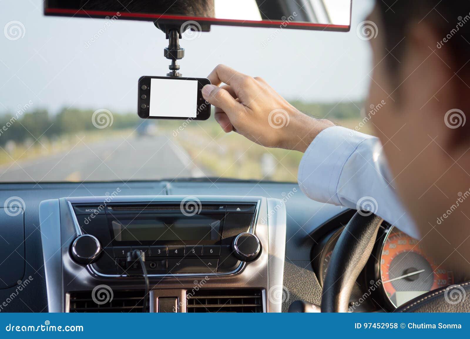 Video recorder driving a car