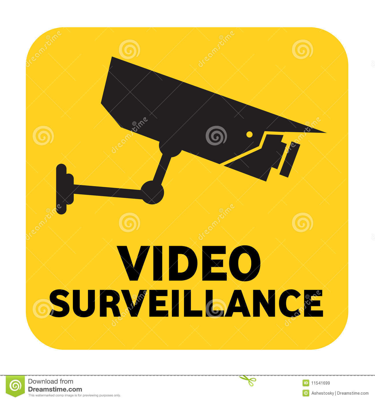 Video Surveillance Sign Royalty Free Stock Images Image