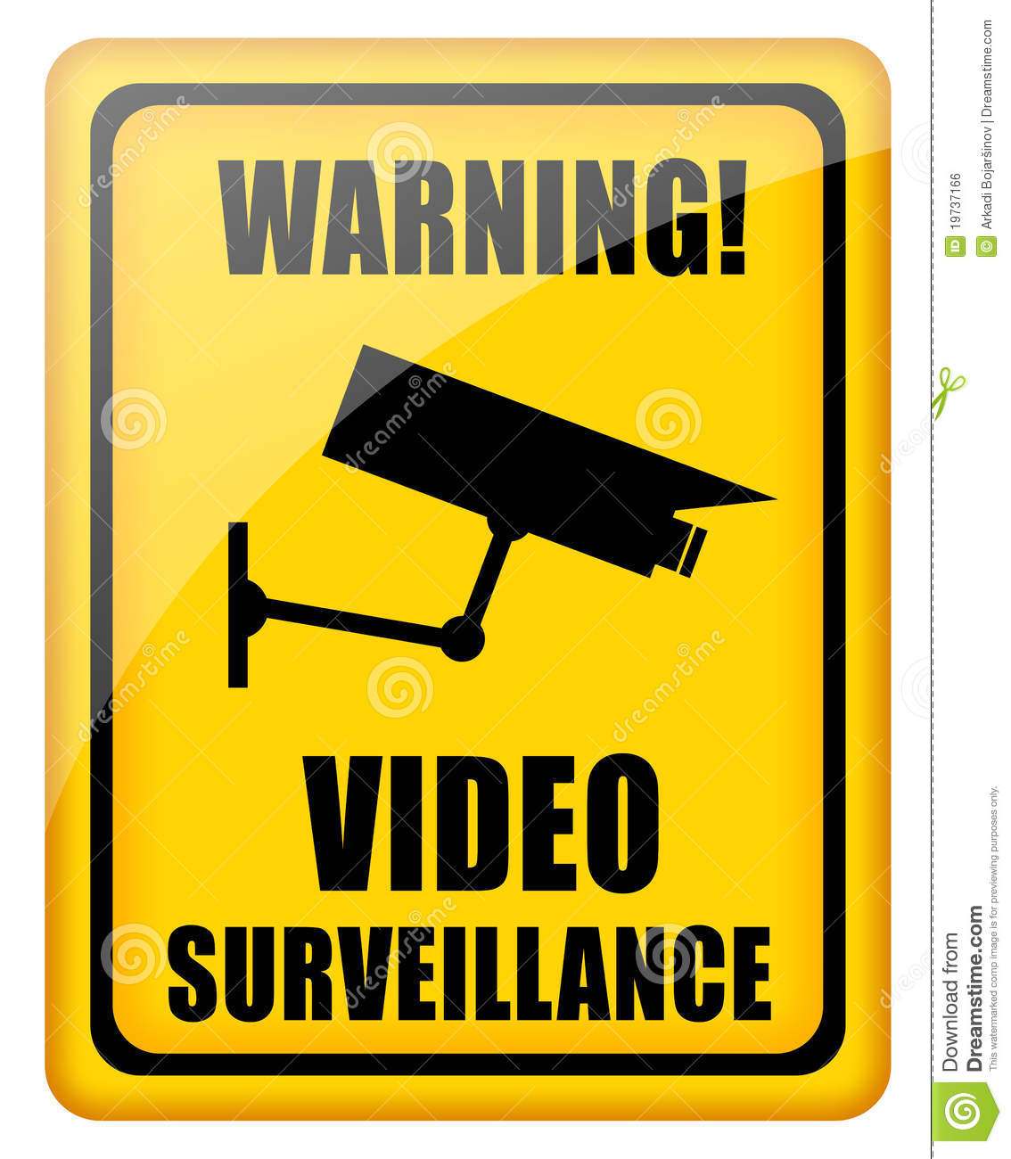 Video Surveillance Sign Royalty Free Stock Image - Image: 19737166