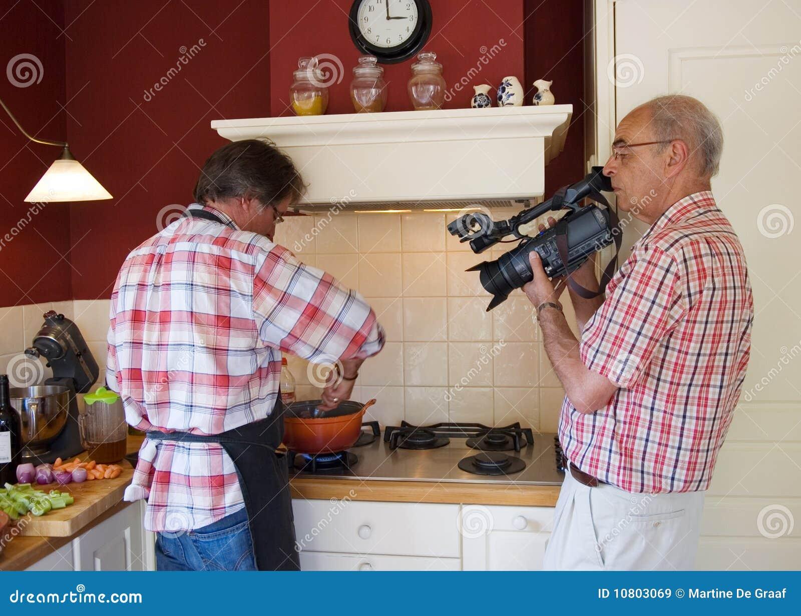 Video tiro che cucina esposizione