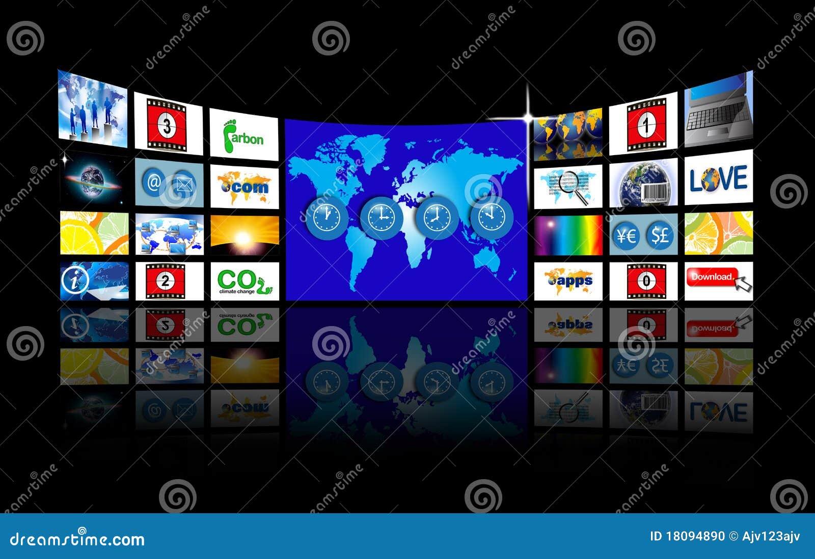 Video Wand des breiten Bildschirms