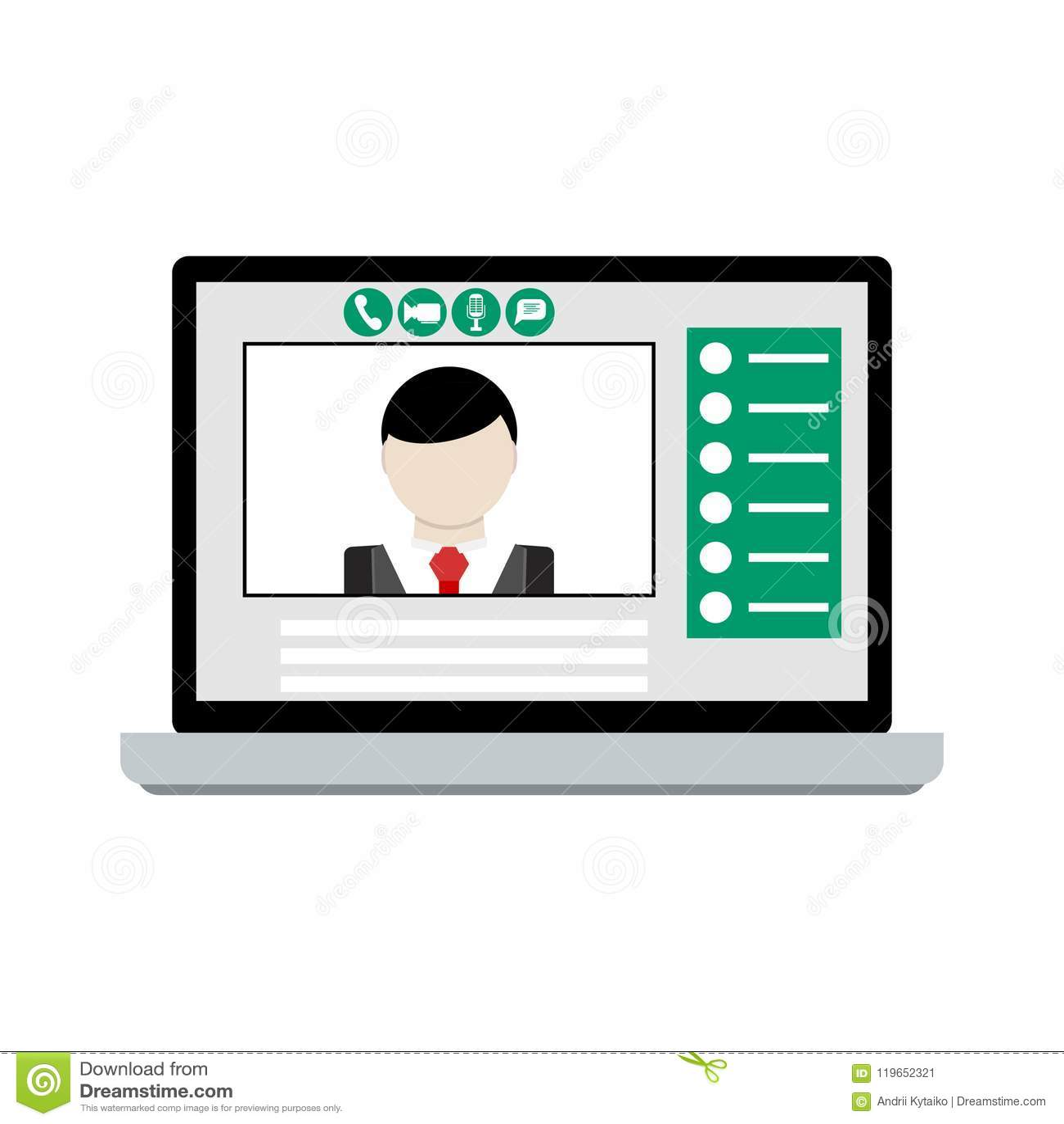 Videoanruf auf Laptop