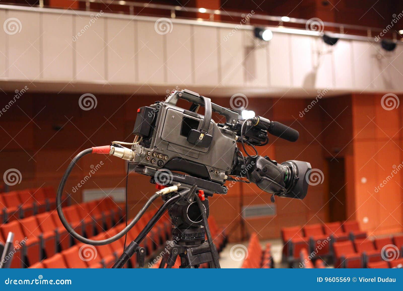 Videocámara de la televisión