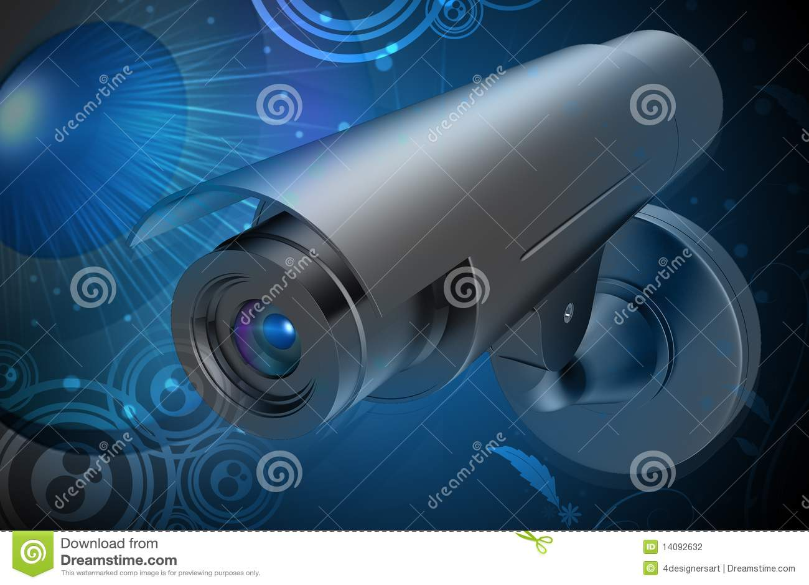 Videocamera Di Sicurezza Fotografia Stock - Immagine: 14092632