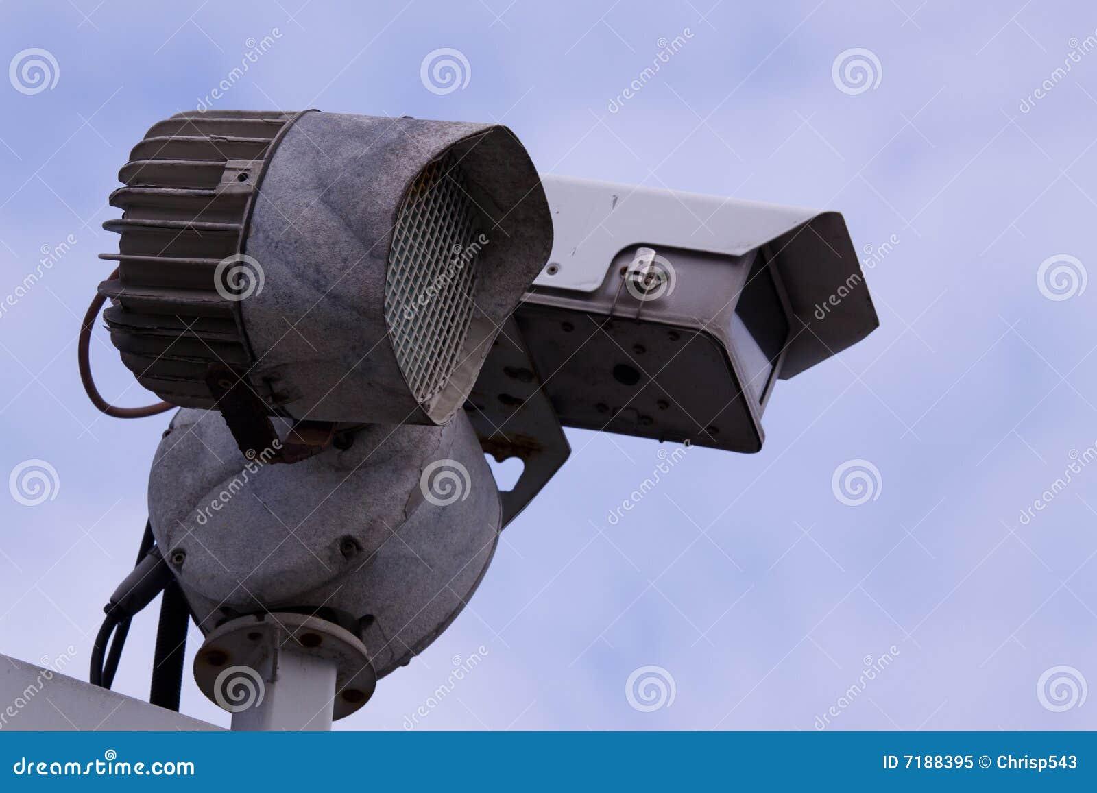 Videocamera Di Sicurezza Fotografia Stock Libera da ...