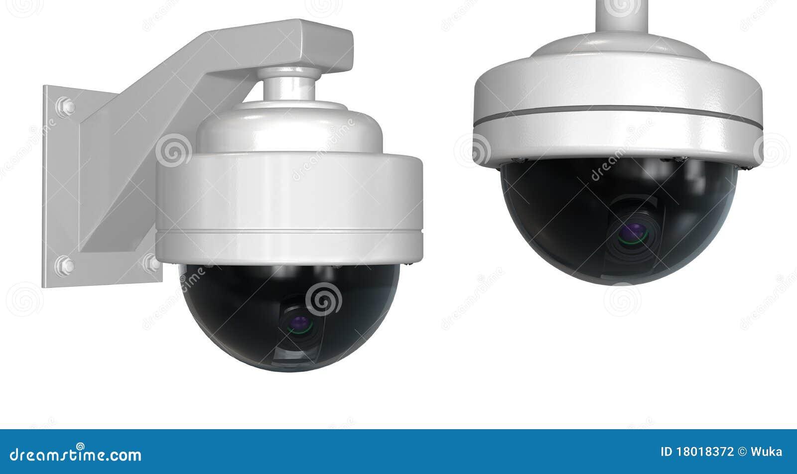 Videocamere di sicurezza illustrazione di stock. Immagine di bianco - 18018372