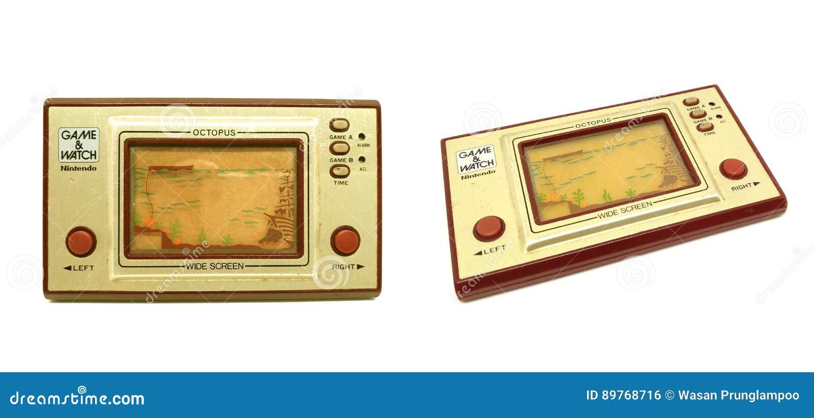 Videoconsola Juego De Nintendo Y Aislante Portatiles Viejos Del