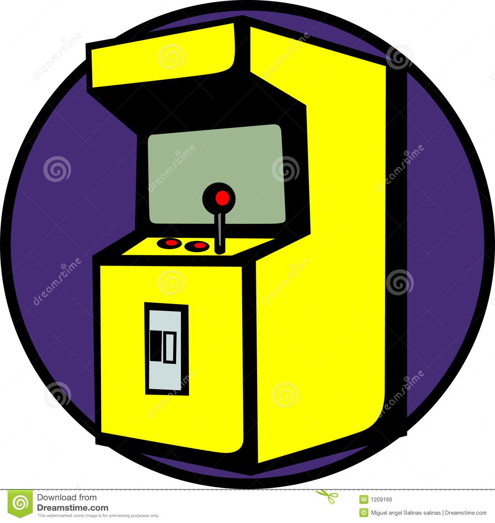 Videogame Arcade Machine Vector Illustration Stock Vector