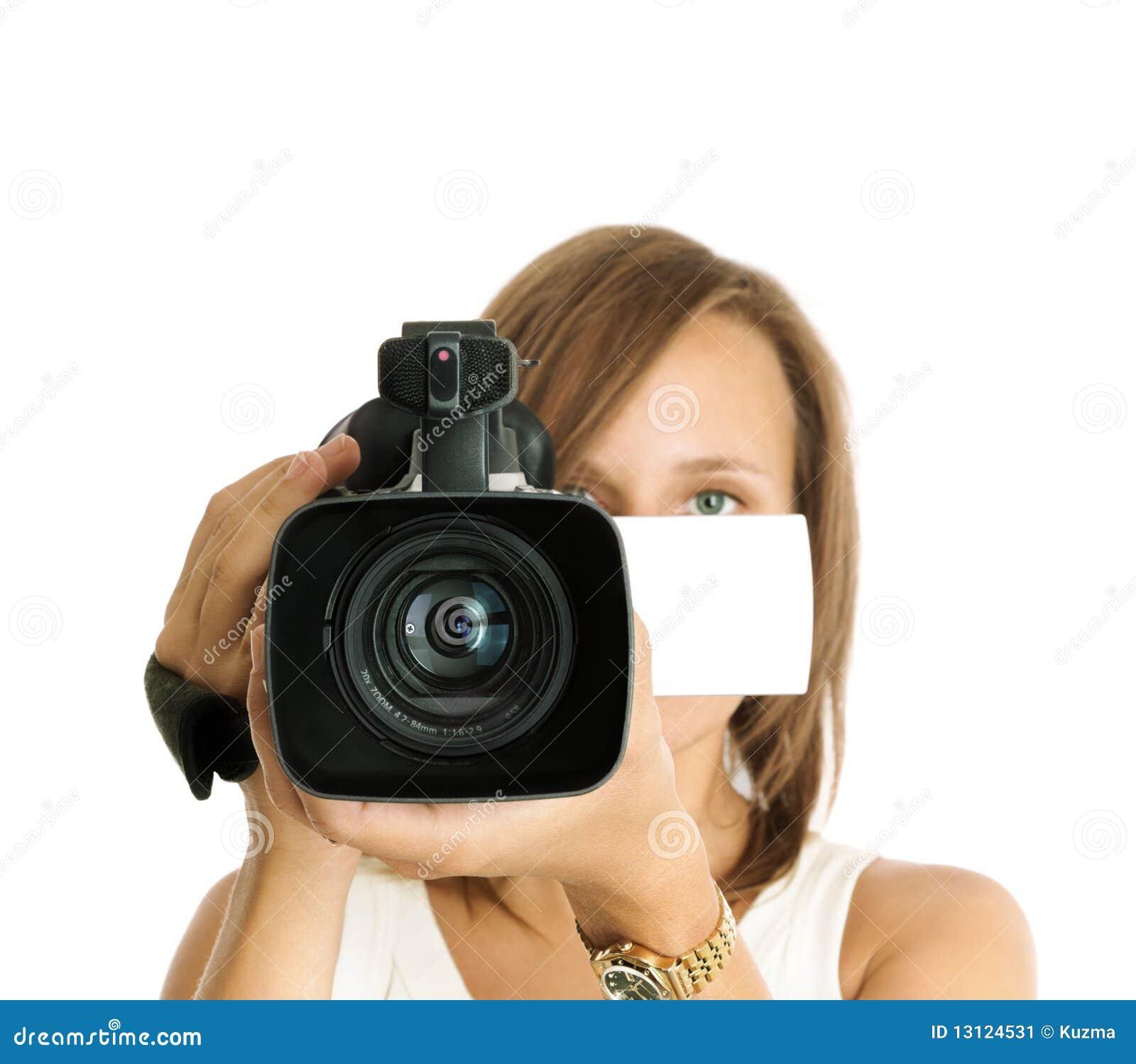 Videographer Stock Image