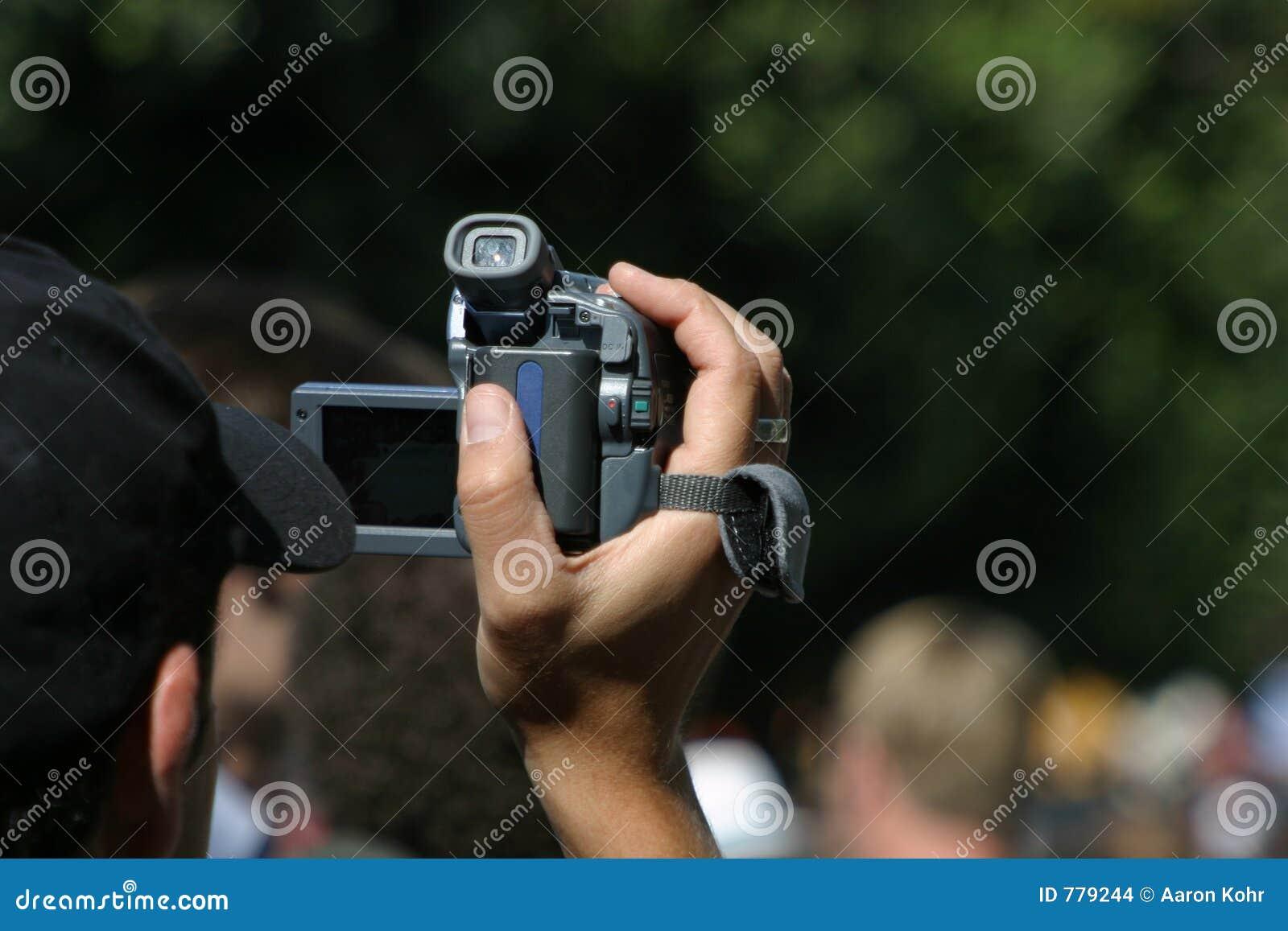 Videographer no trabalho