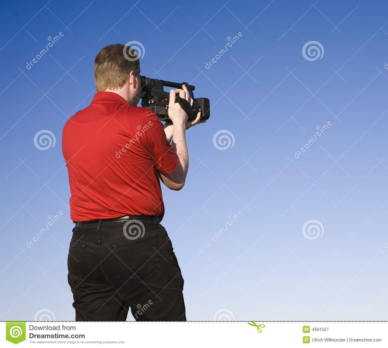 Videographer Shooting Footage Royalty Free Stock