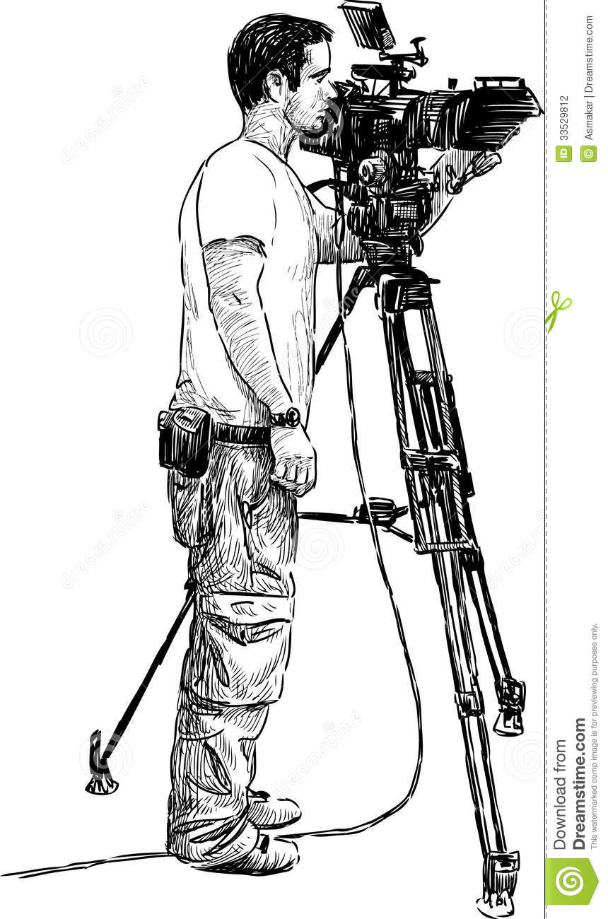 photographer silhouette vector free