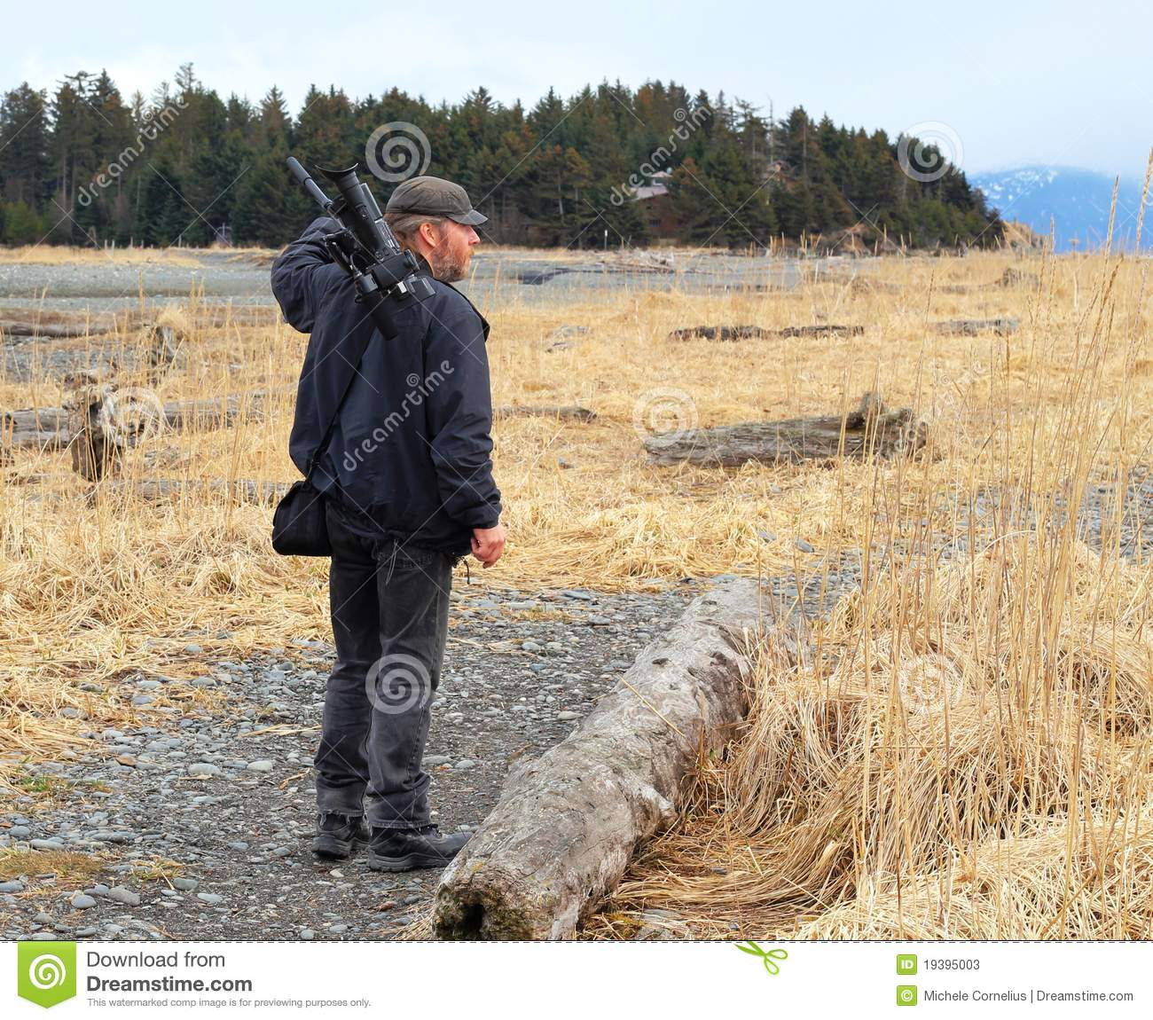 Videographer In The Wetlands Stock Photos