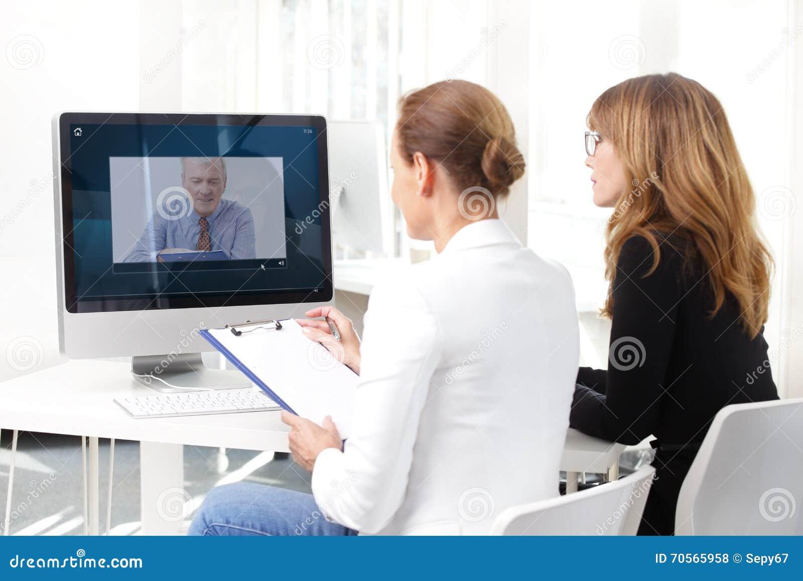 Videokonferenzsitzung