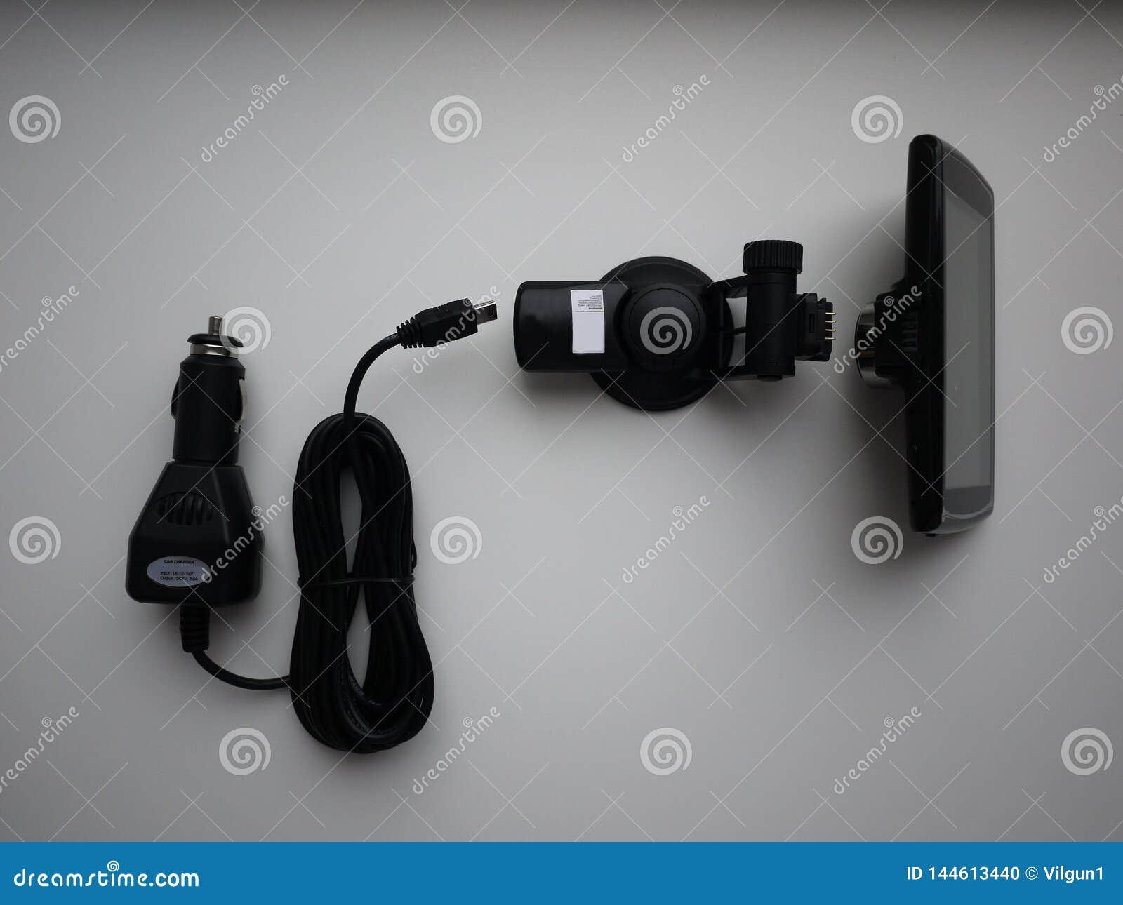 Videorecorder voor de auto Gebruikt om te registreren wat op de weg gebeurt Geïnstalleerd op het windscherm en