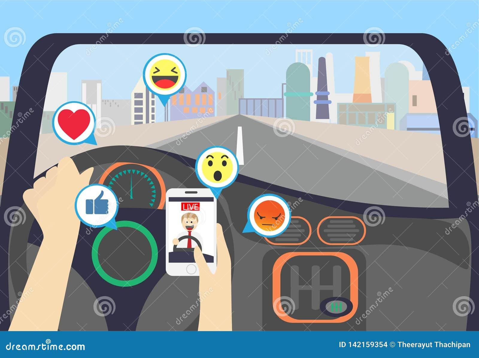 Videoströmen beim Fahren auf die Stadt