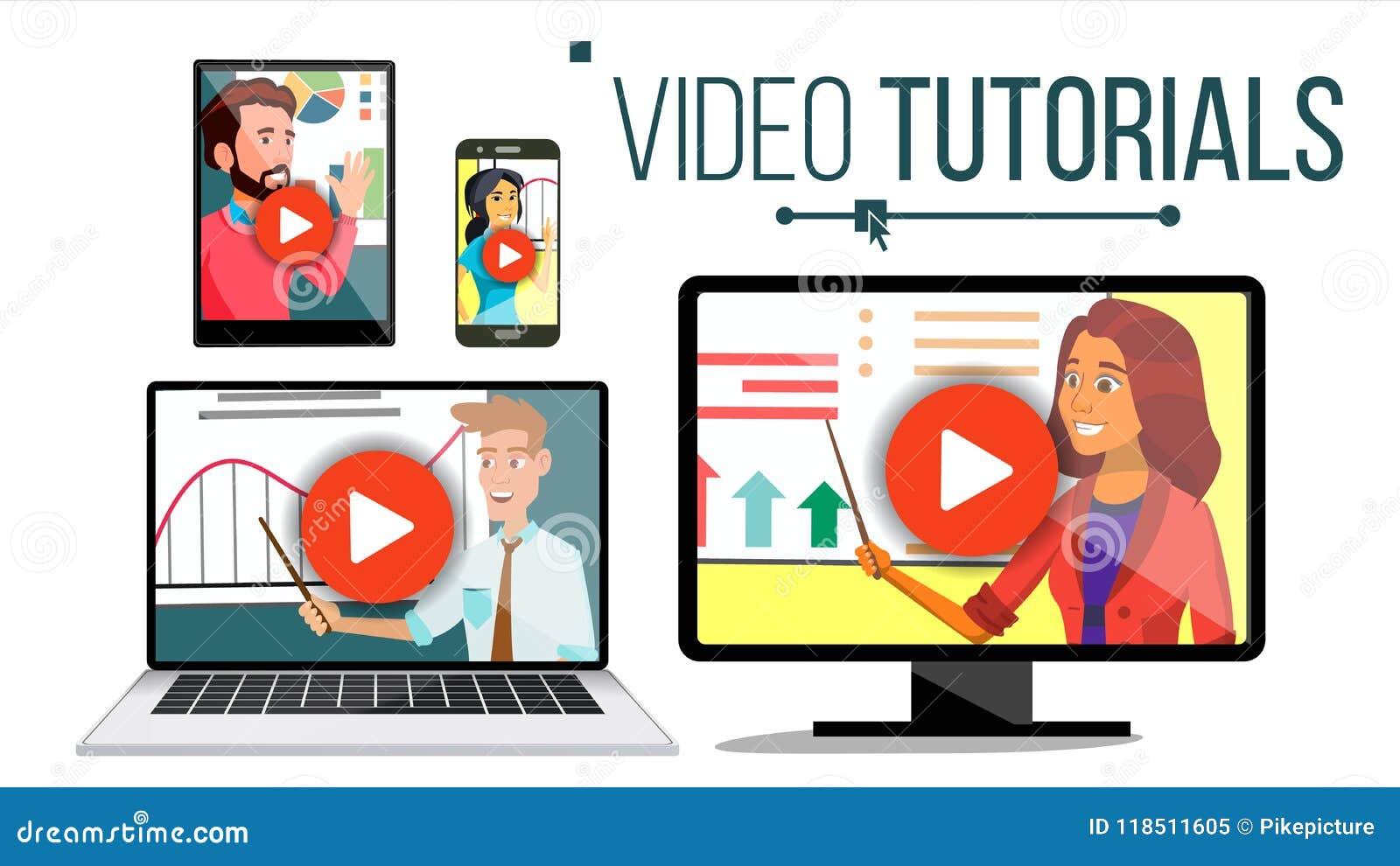 Videovector Van een privé-leraar Het stromen Toepassing Online Onderwijs broadcasting Conferentie of Webinar Afstandskennis