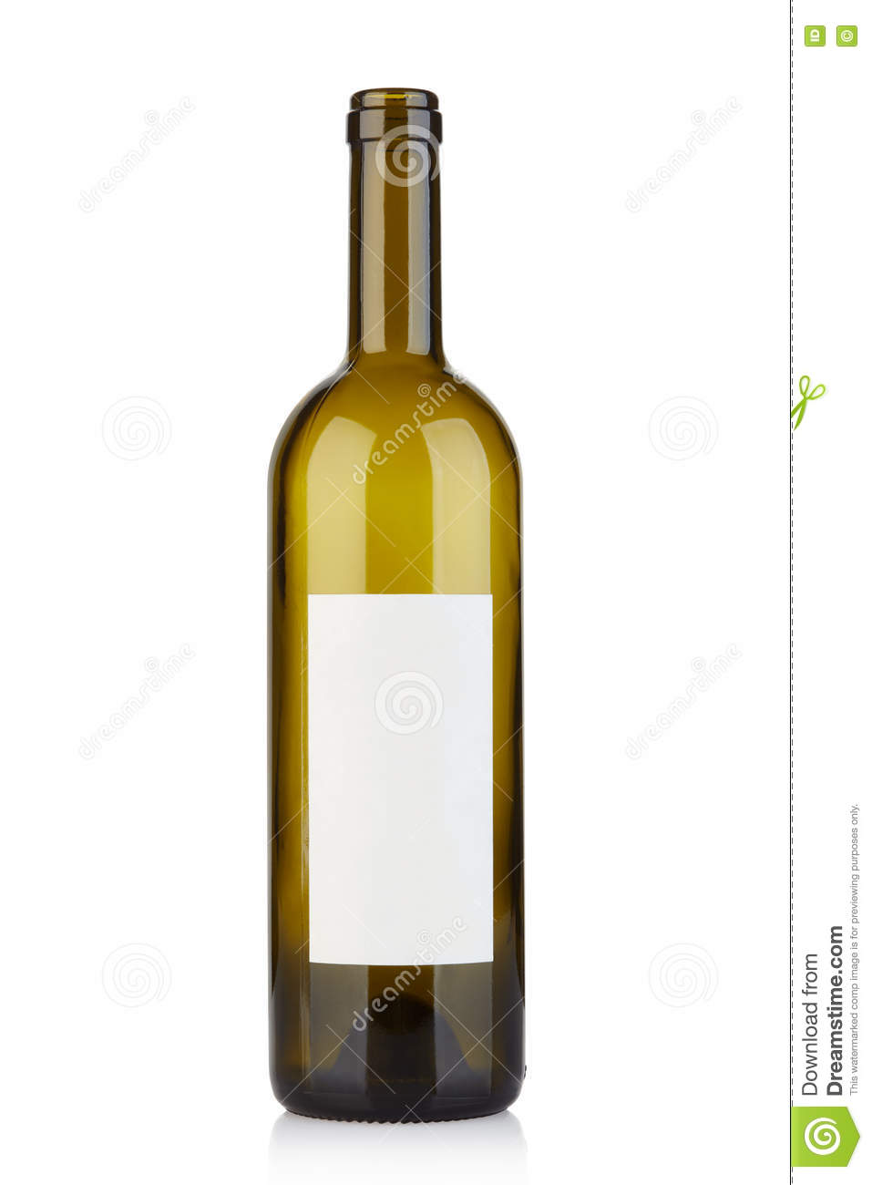 videz la bouteille de vin ouverte avec le label vide sur le blanc photo stock image 70303107. Black Bedroom Furniture Sets. Home Design Ideas