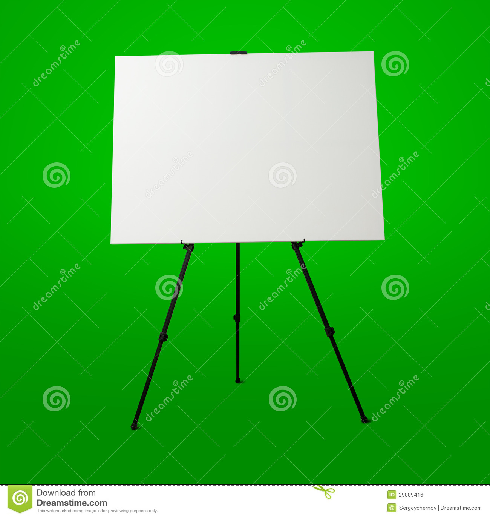 toile blanche vide et chevalet moderne image libre de droits image 29889416
