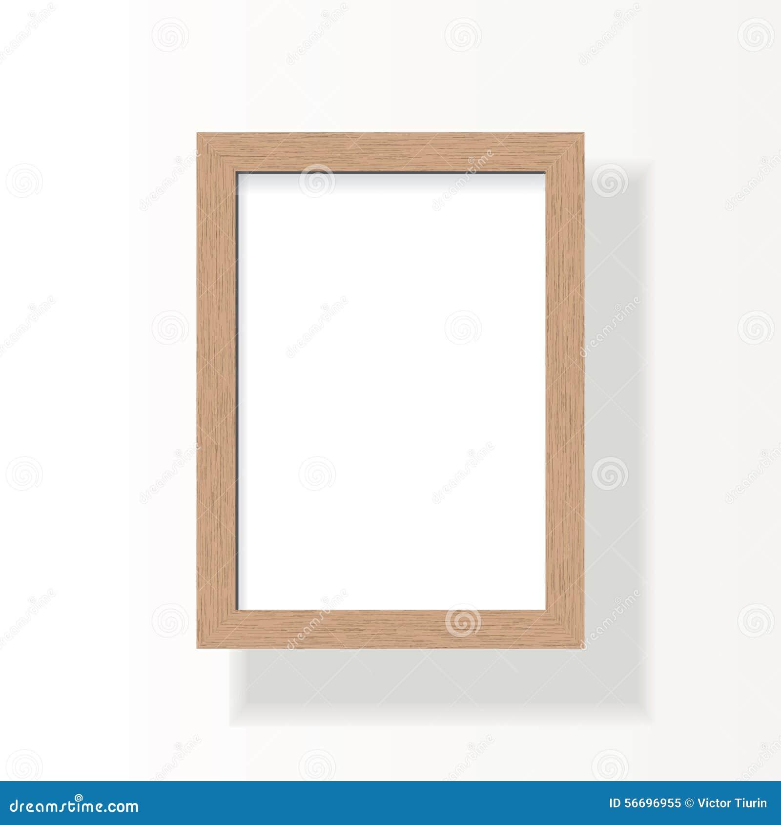 videz le cadre en bois pour l 39 image a4 la photo ou le texte illustration de vecteur. Black Bedroom Furniture Sets. Home Design Ideas