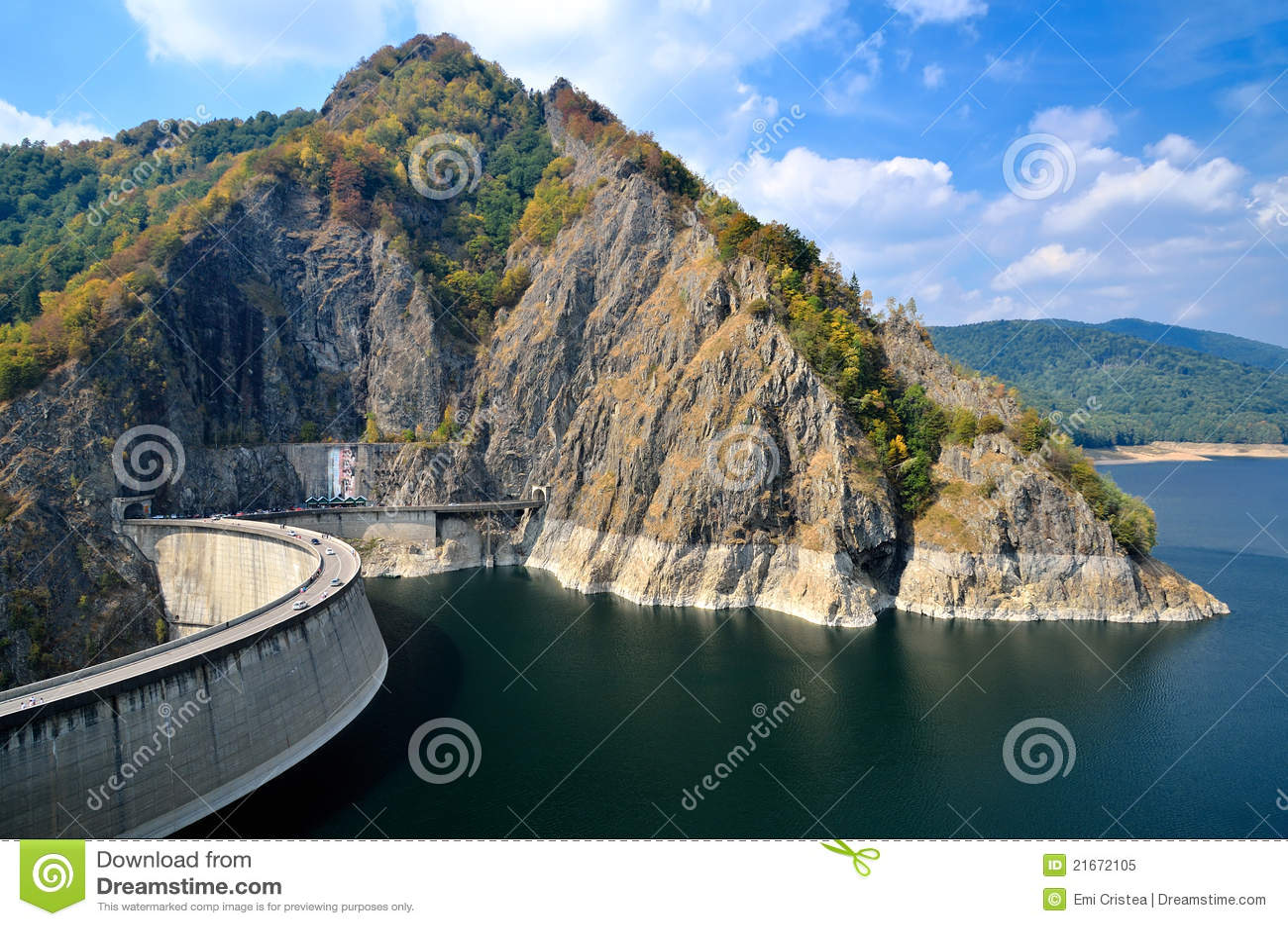 Vidraru της Ρουμανίας λιμνών φρα&ga