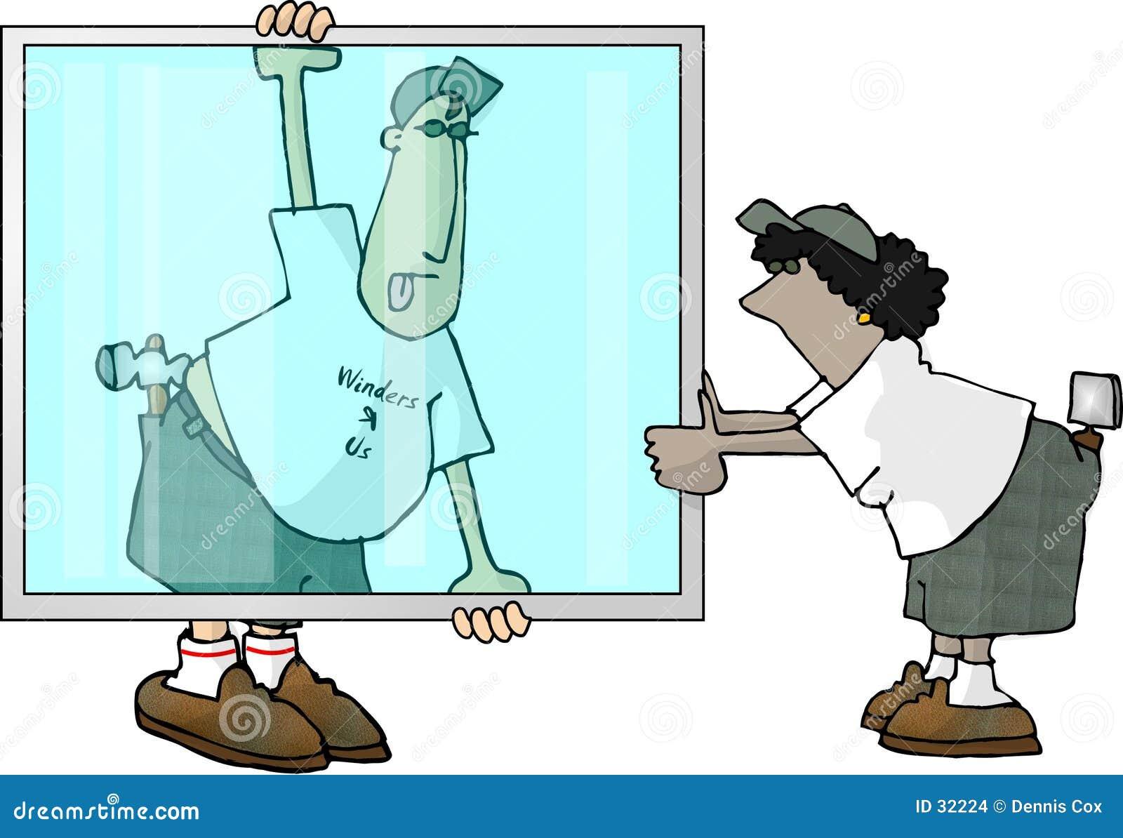 Download Vidrieros stock de ilustración. Ilustración de cristal, glazier - 32224