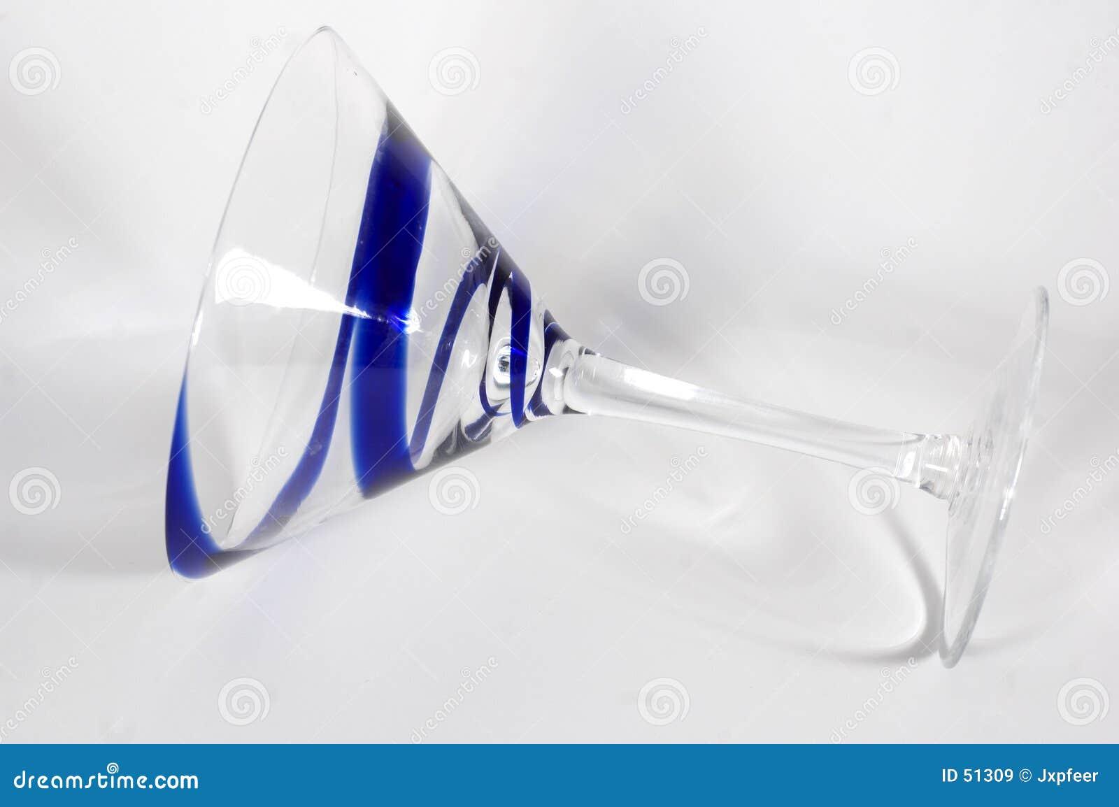 Vidrio azul de Martini del remolino