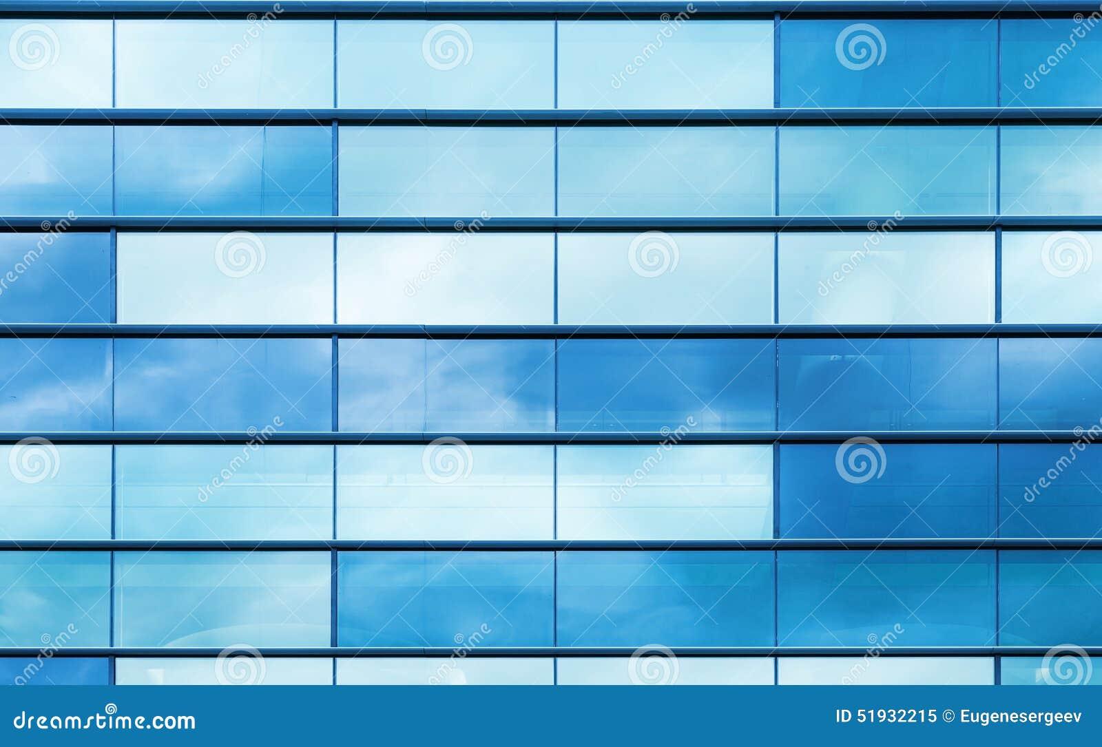 Vidrio Azul Y Marco De Acero, Textura Del Fondo Imagen de archivo ...