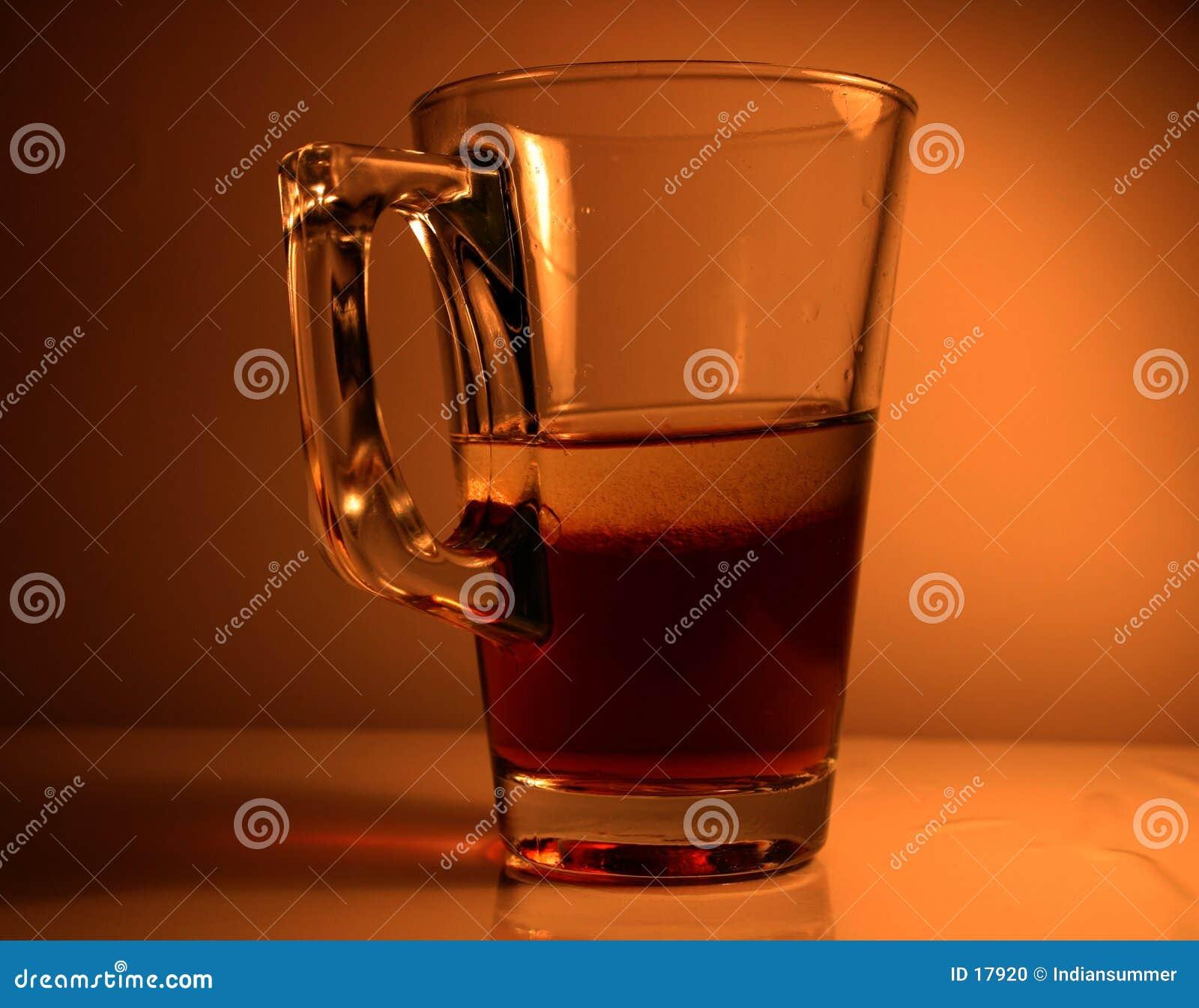 Vidrio con el líquido