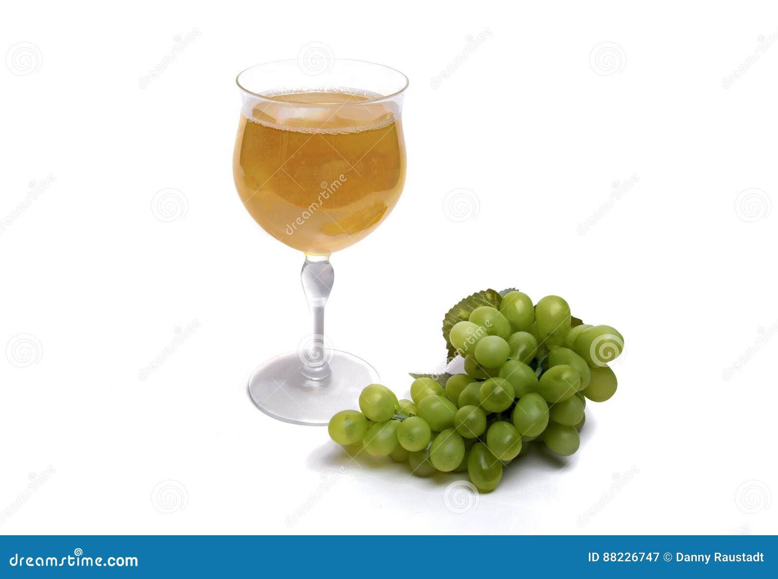 Vidrio de vino blanco de Zinfandel California