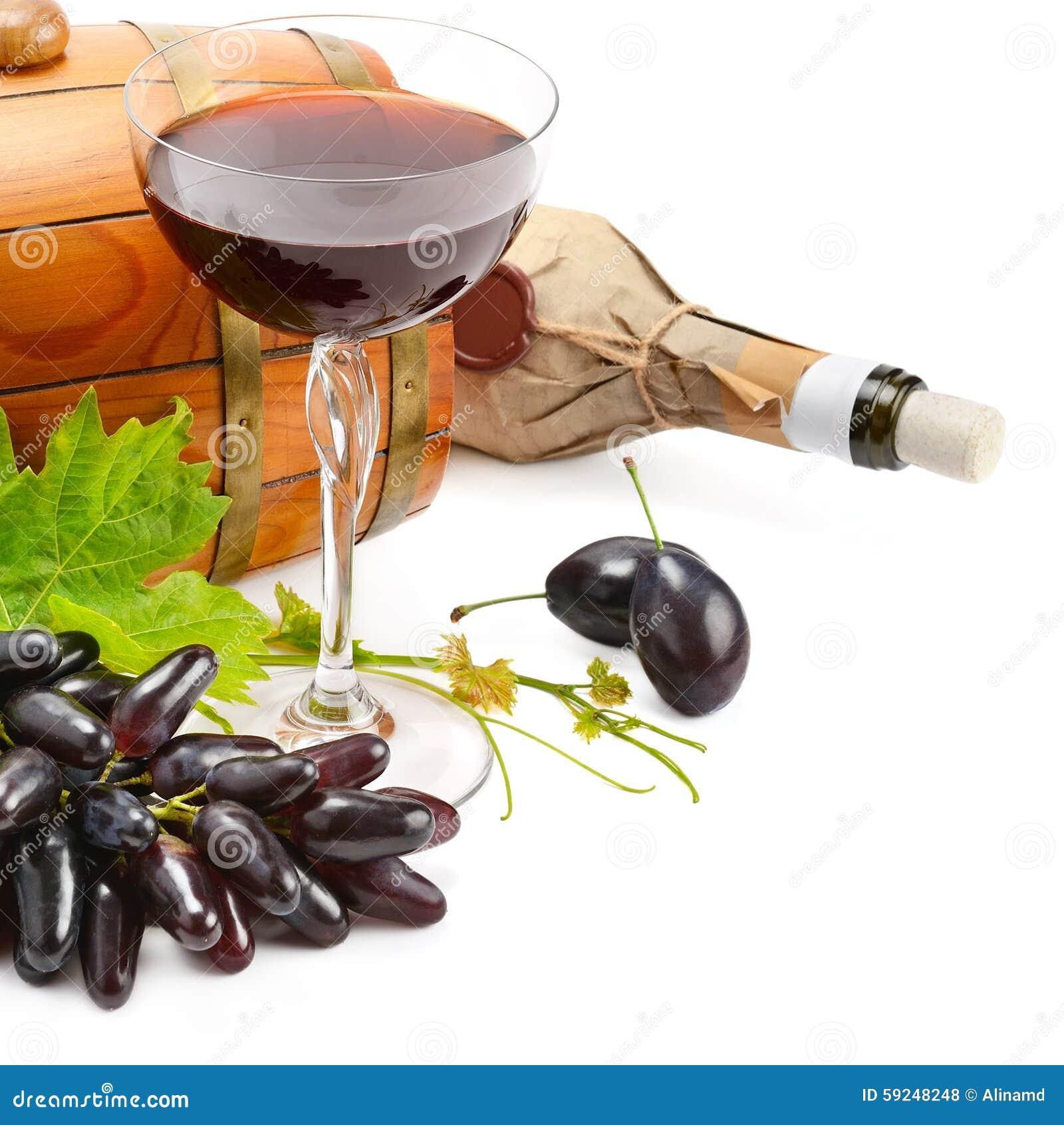 Vidrio del vino, del barril y de la botella