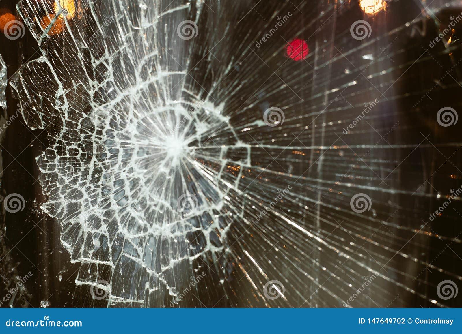 Vidrio quebrado contra el fondo